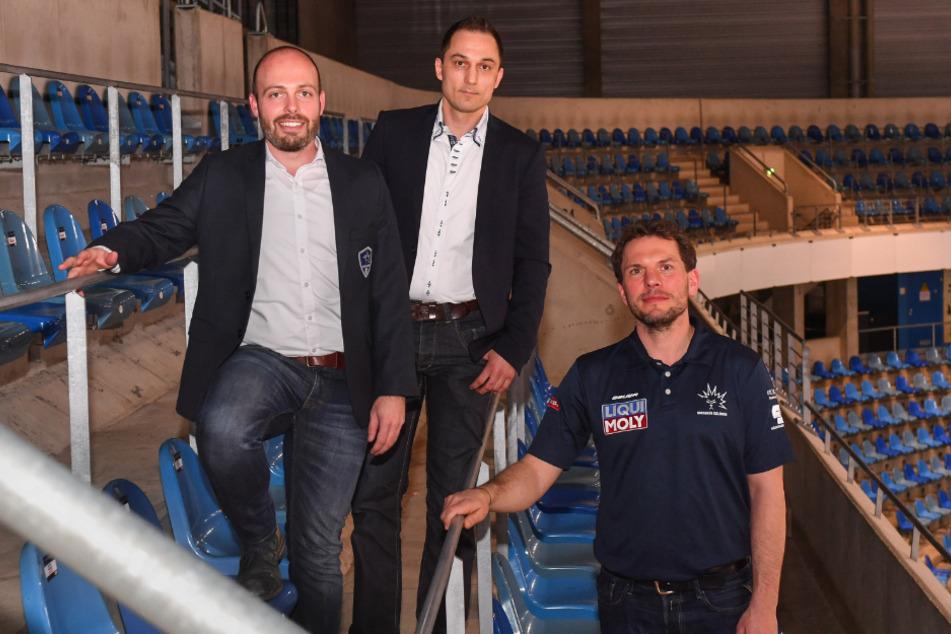 Mit ihnen versuchte Micksch einen neuen Weg einzuschlagen (v.l.): Maik Walsdorf, Thomas Barth und Jochen Molling.