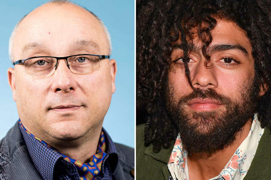 Vom Twitter-Account von Jens Maier (links) wurde Noah Becker beleidigt. Der Politiker will es aber nicht gewesen sein.