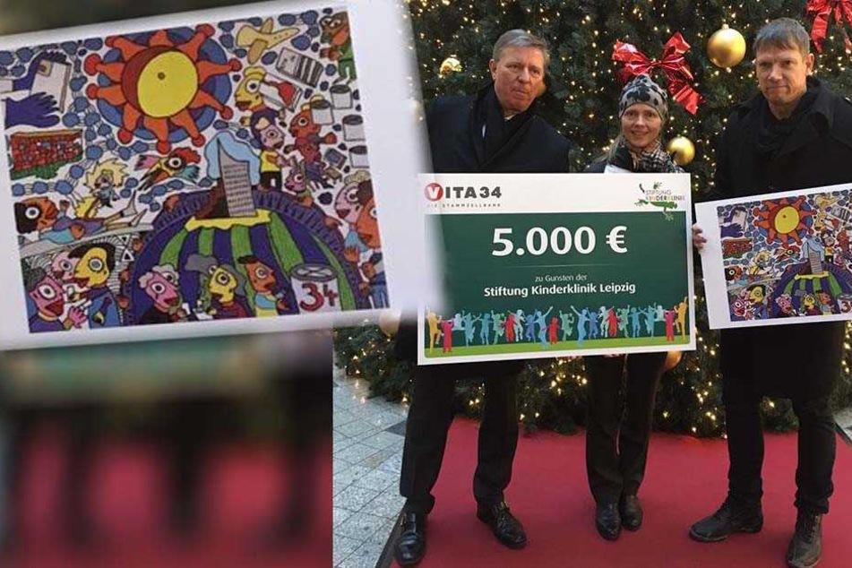 Dieses Bild brachte 5000 Euro für die Stiftung Kinderklinik Leipzig ein