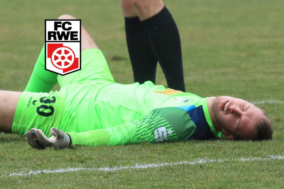 Lukas Cichos musste sich minutenlang auf dem Feld behandeln lassen.