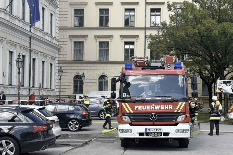 Das Gebäude am Odeonsplatz wurde evakuiert.
