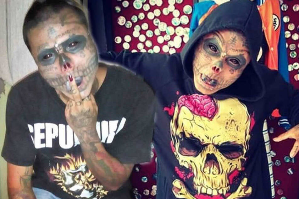 Nase und Ohren abgeschnitten: Mann will aussehen wie Totenkopf