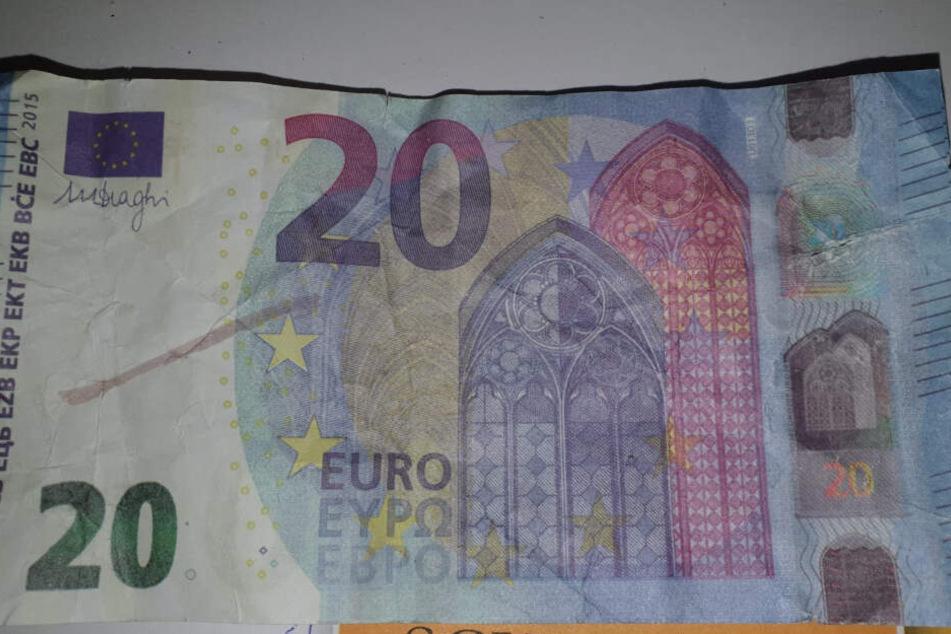 Die Vorderseite des falschen 20-Euro-Scheins. Dieser tauchte im Dezember 2019 in einem Konsum auf (Archivbild).