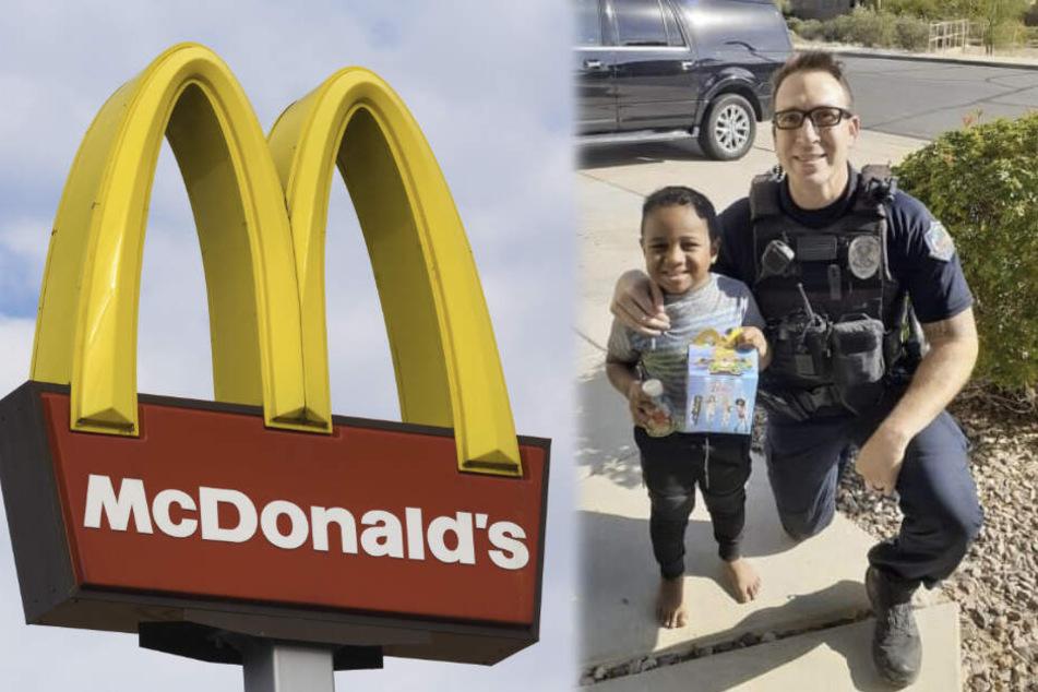 """Junge (5) wählt Notruf und bestellt """"Happy Meal"""": Reaktion der Polizisten ist kaum zu glauben"""