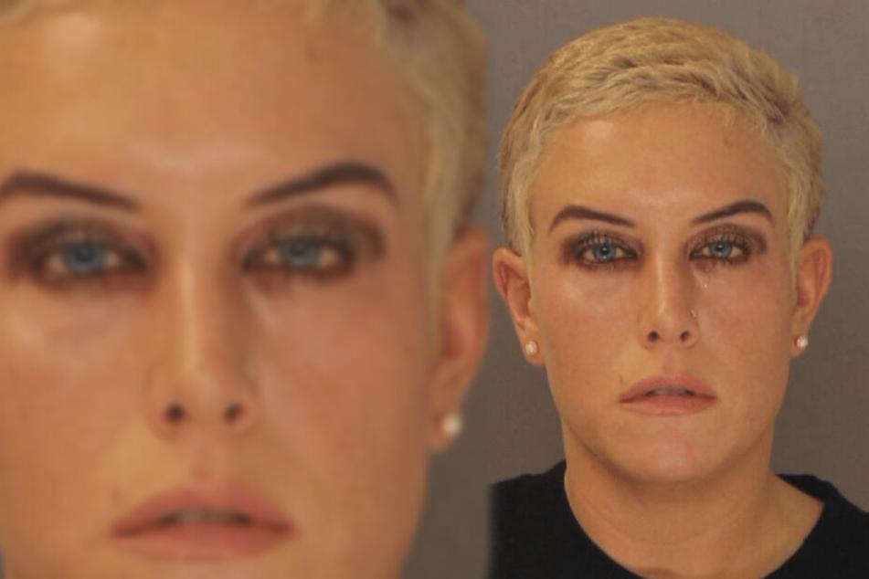 Die Augen voller Tränen, aber der Blick kontrolliert und stur nach vorne: Jessica Ann Smith belog alle mit einer angeblichen Krebserkrankung.