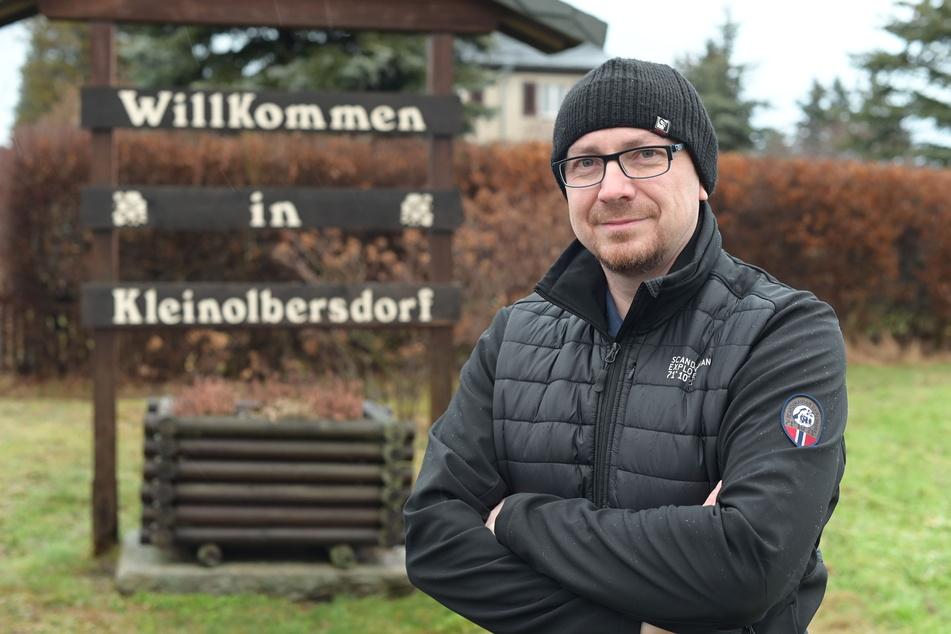 Der Ortsvorsteher von Kleinolbersdorf-Altenhain, Marco Gerlach (44), fährt selbst fast täglich nach Mittweida.