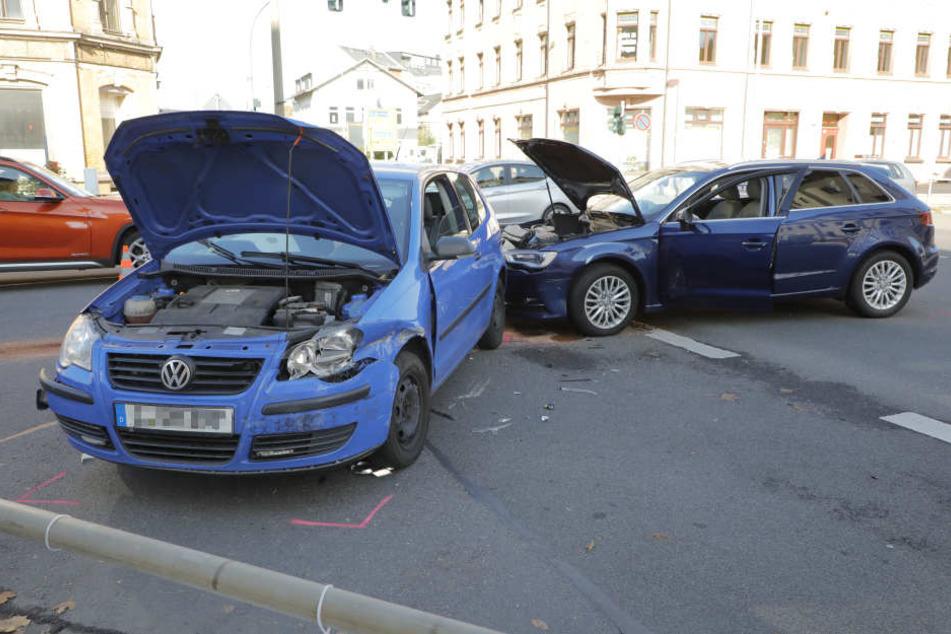 Der Unfall passierte, als der Audi dem VW die Vorfahrt genommen hatte.