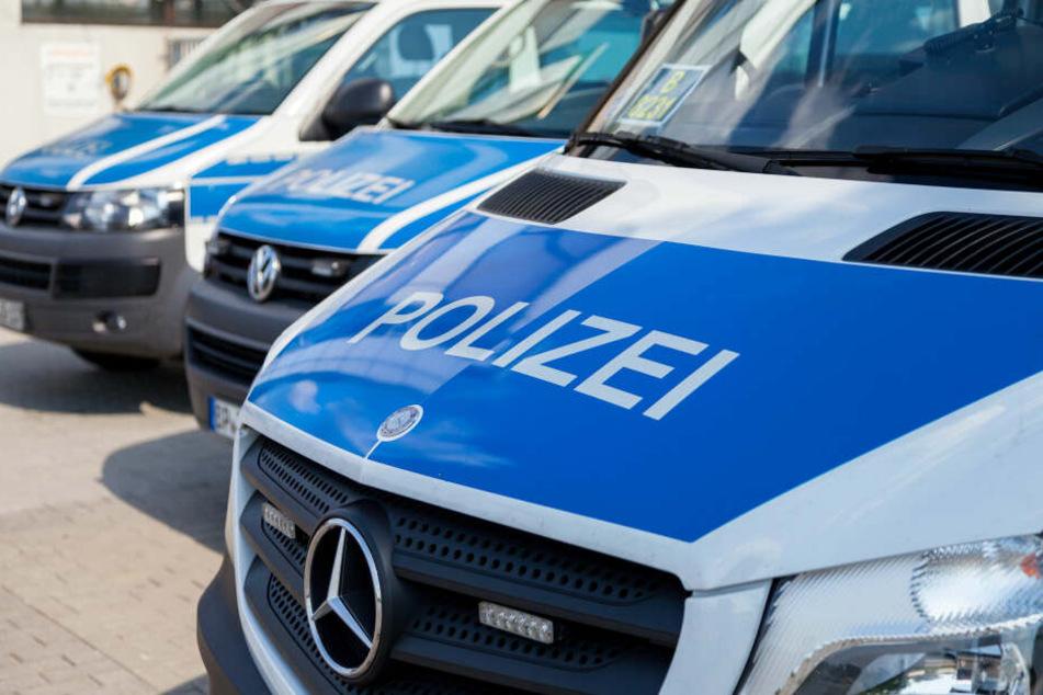 Geparkte Polizeifahrzeuge (Symbolbild).