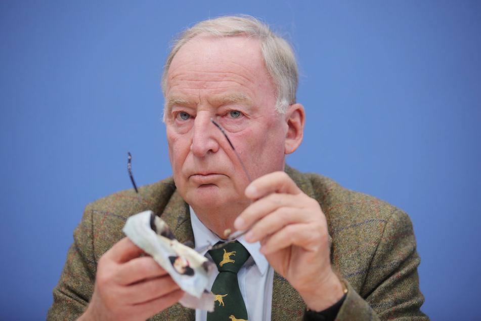 Alexander Gauland bei einer Pressekonferenz einen Tag nach der Bundestagswahl.