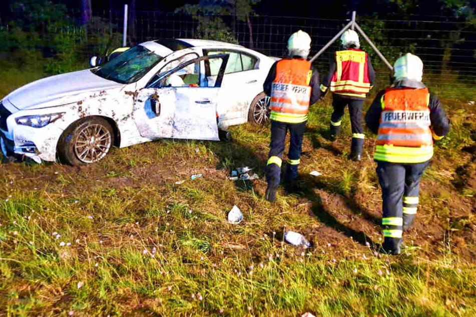 Schwerer Unfall auf A9! Zwei Kleinkinder im Krankenhaus
