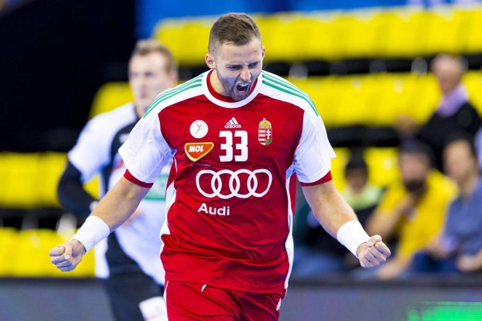 In der zweiten Hälfte zogen die Ungarn an und hatten durchaus Grund zur Freude. Hier: Gabor Ancsin.