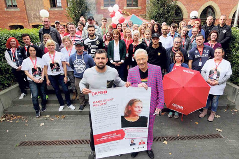 Zur Typisierungsaktion der DKMS (Deutsche Knochenmark Spenderdatei) kamen  1000 Menschen.