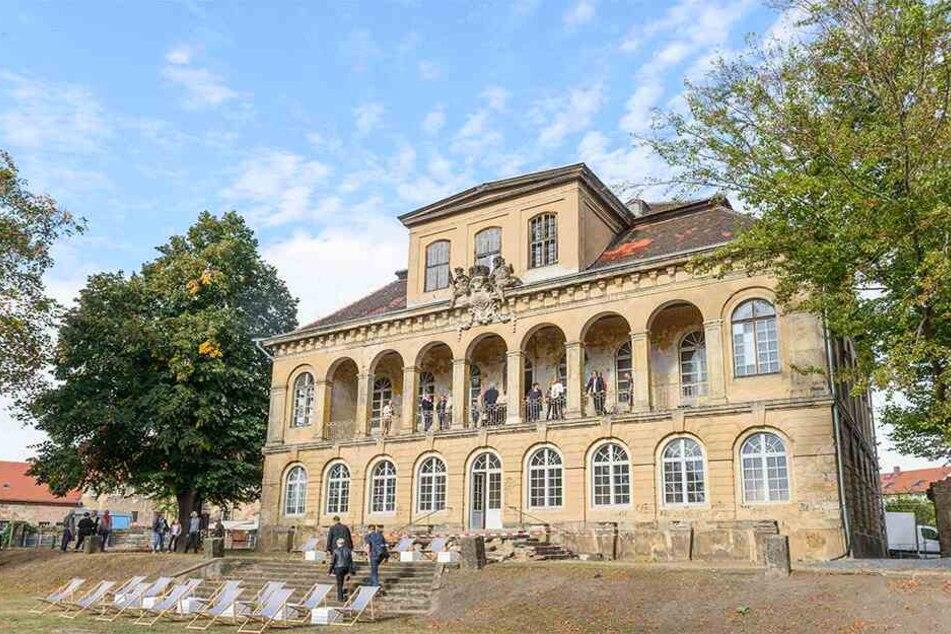 Zum Tag des offenen Denkmals 2018 kamen viele Besucher zum Schloss Übigau.