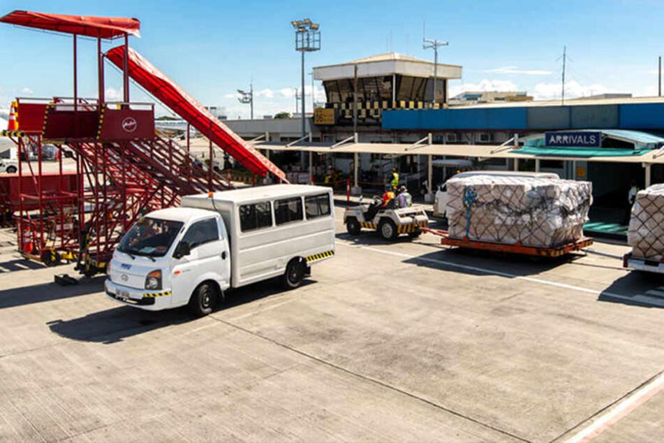 Der Flughafen in Manila. Von hier aus wollte die Frau zurück in die USA.