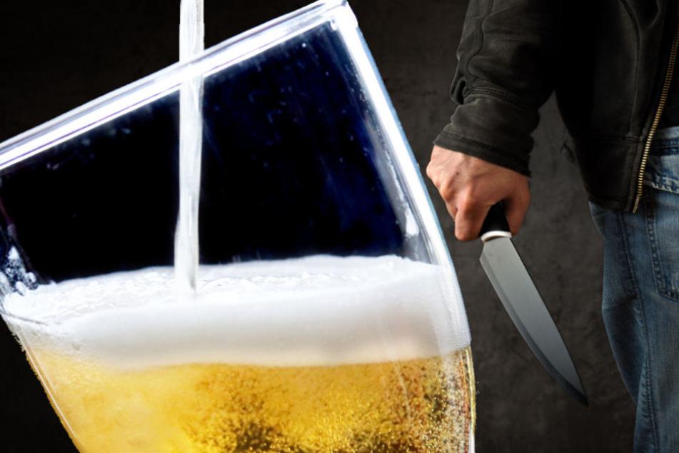 Mann geht im Vollrausch mit Messer auf Jugendliche los