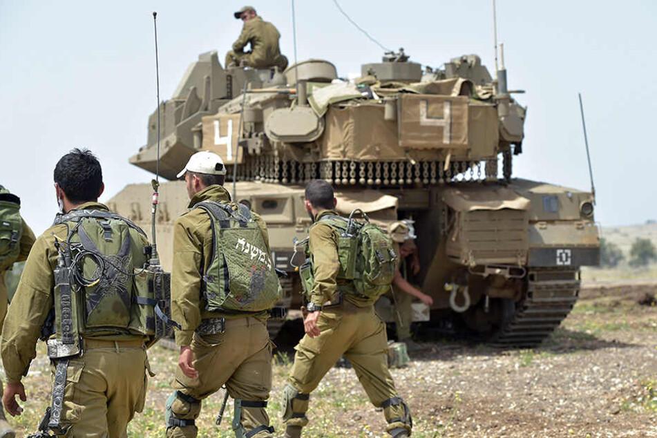 Israelische Soldaten nahmen Anfang Mai 2018 an einem Militärmanöver in den von Israel kontrollierten Golanhöhen teil.