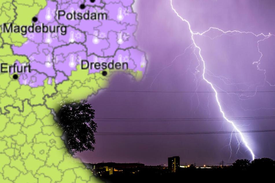 Meteorologen warnen vor Gewitter und Hagel in Sachsen!