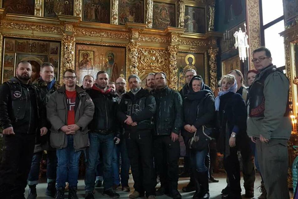 Die sächsische Biker-Gruppe besuchte auch die Moskauer Kirche St. Evfrosinia, deren Priester als junger Chorknabe in der Leipziger Thomaskirche sang.