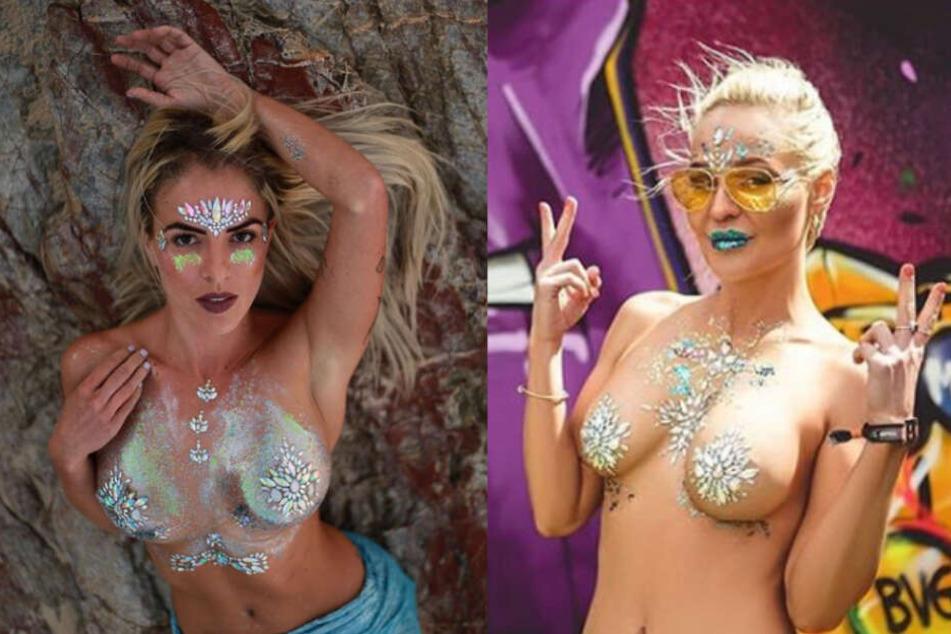 Glitter Boobs: Diese Verzierung lässt Brüste zu Weihnachten funkeln