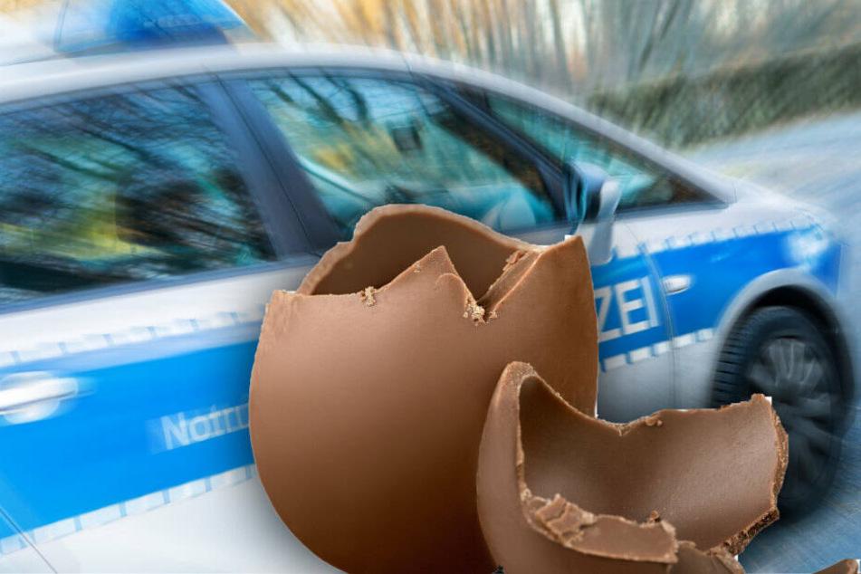 Ein Dreijähriger, der ein Schoko-Ei aß, wurde rassistisch beleidigt. (Bildmontage)