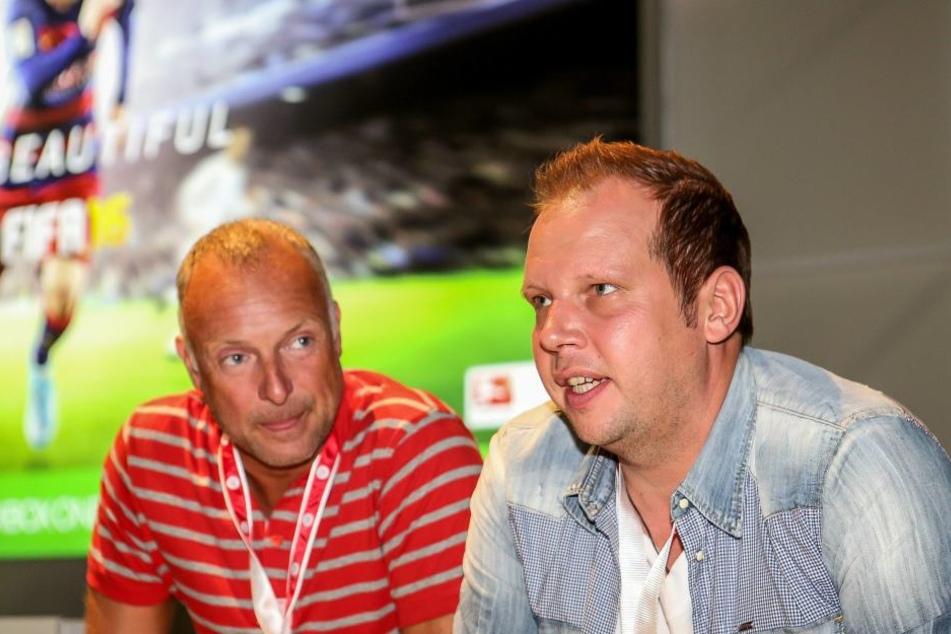 Frank Buschmann (l.) und Wolff-Christoph Fuss werden nächstes Jahr Kollegen bei Sky.