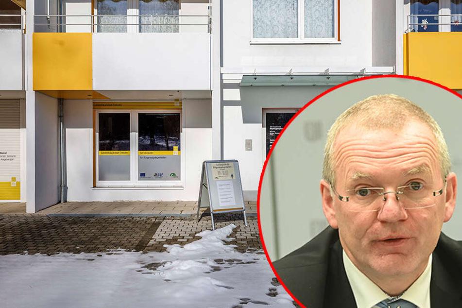 Dresden: Besuch im Servicepunkt: Bürgermeister Sittel schwärmt von Gorbitz!