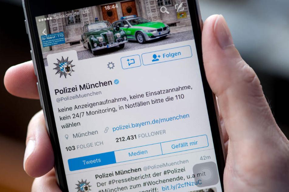 Die Polizei München konterte über Twitter. (Symbolbild)