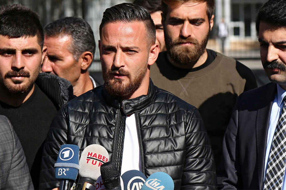 Nach dem Freispruch Anfang November 2016 sprach Deniz Naki zur Presse.