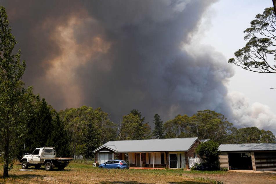 Eine Rauchwolke aus den Buschbränden der Grose Valley verdeckt den Himmel. Die Lage im Kampf gegen die Buschfeuer in Australien spitzt sich zu.