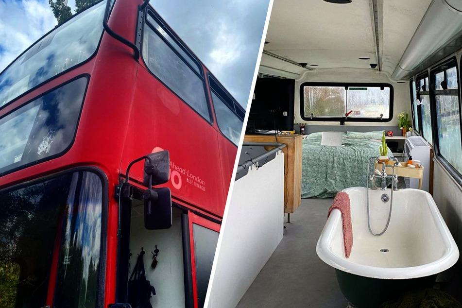 Pärchen verwandelt Londoner Doppeldecker-Bus in Wohlfühl-Oase!