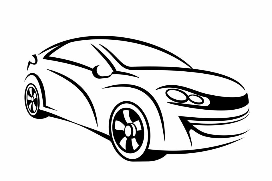 Die Skizze eines Autos. (Symbolbild)