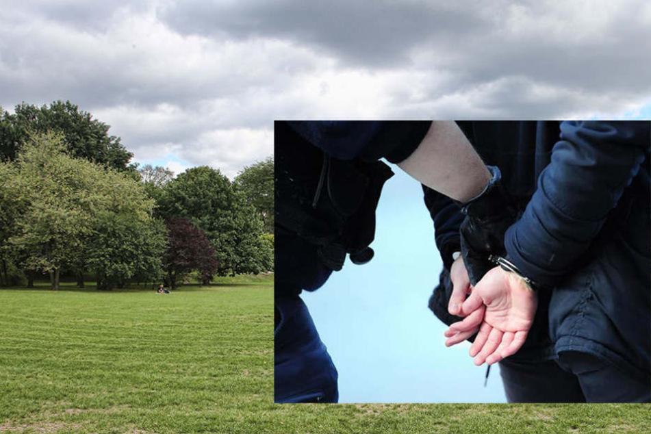 Im Alaunpark wurde der Messerstecher verhaftet.