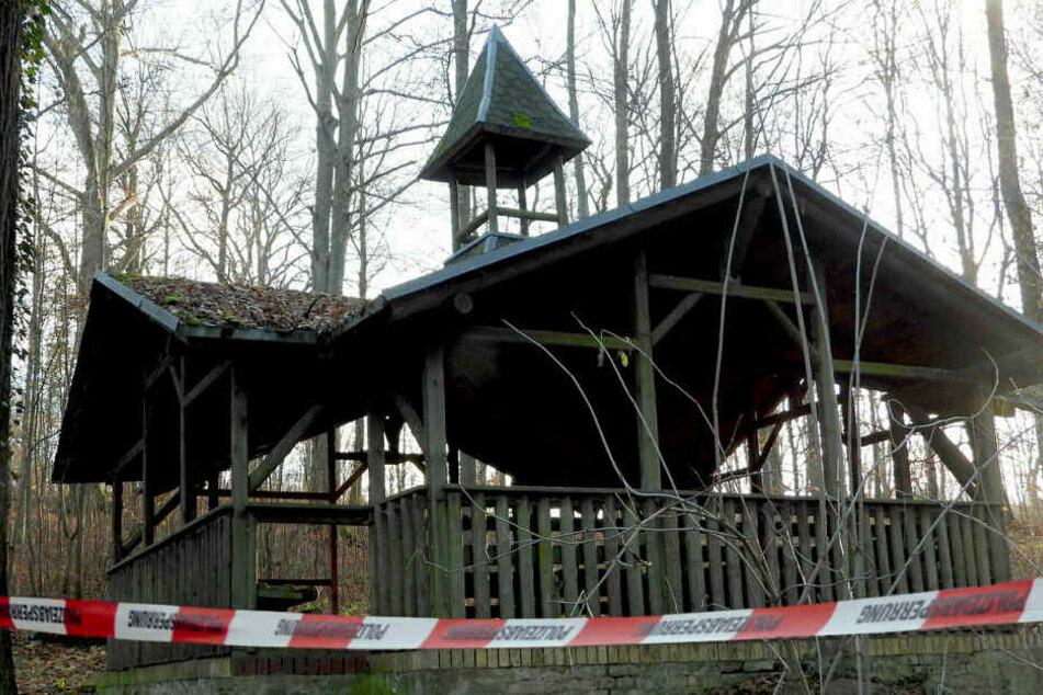 Die Alberthalle im Grimmaer Stadtpark - hier ereignete sich am Sonntagnachmittag das Verbrechen.