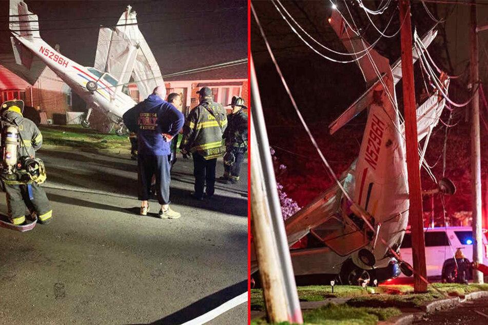 Kleinflugzeug stürzt auf Wohngebiet zu: Was dann passiert, ist kaum zu glauben!