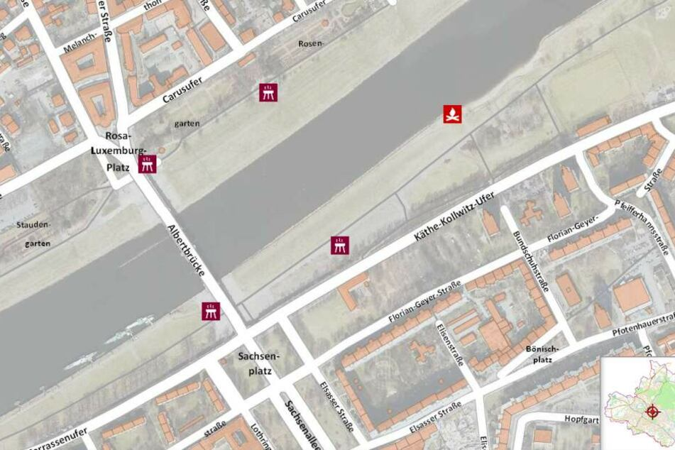 Allein um die Albertbrücke herum stehen Euch vier Grillplätze und ein Lagerfeuerplatz zur Verfügung.