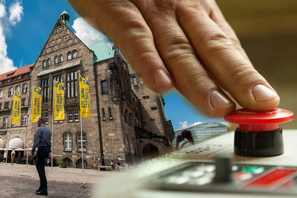 Roter Knopf soll das Rathaus gegen rabiate Bürger schützen