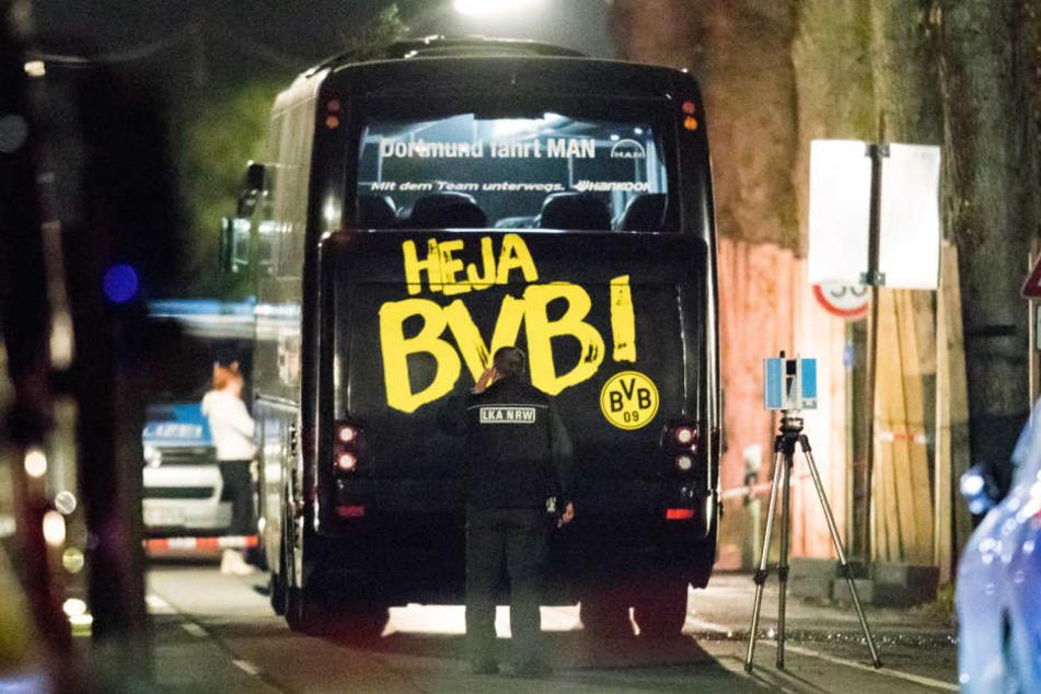 Nach dem Sprengstoffanschlag auf den Teambus von Borussia Dortmund wurde am Freitag ein Tatverdächtiger festgenommen.