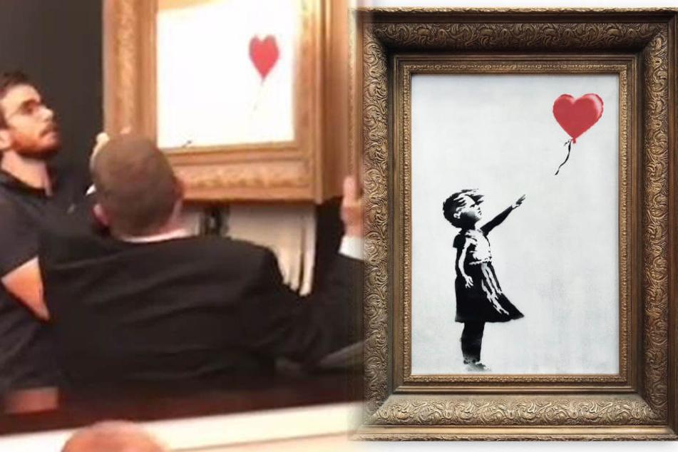 Bald ist Banksys berühmtes Schredder-Bild bei uns zu sehen!