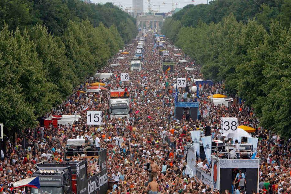 Die Straße des 17. Juni war traditionelle Love-Parade-Meile.