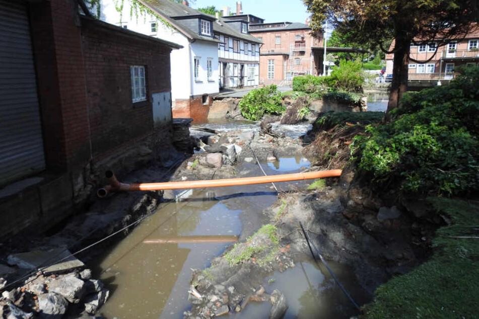 Die Wassermassen richteten großen Schaden an.