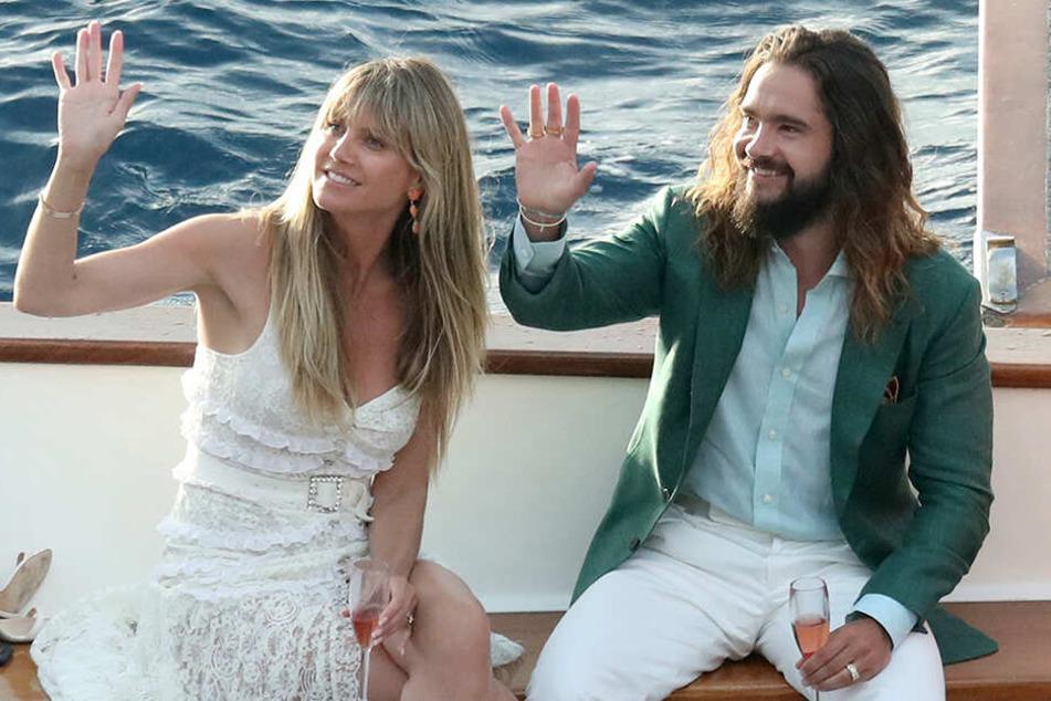 Topmodel Heidi Kaulitz (früher Klum) heiratete am Samstag auf Capri ihren Tom