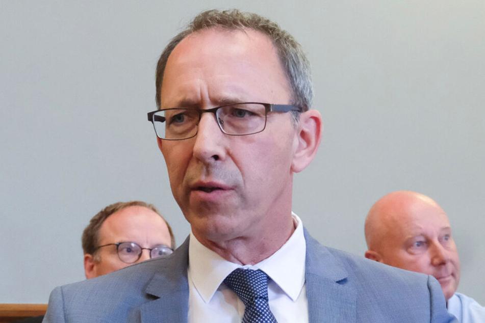 AfD-Partei- und Fraktions-Chef Jörg Urban (55). Er lässt plötzlich dementieren, dass er das Wahlrecht einschränken will.