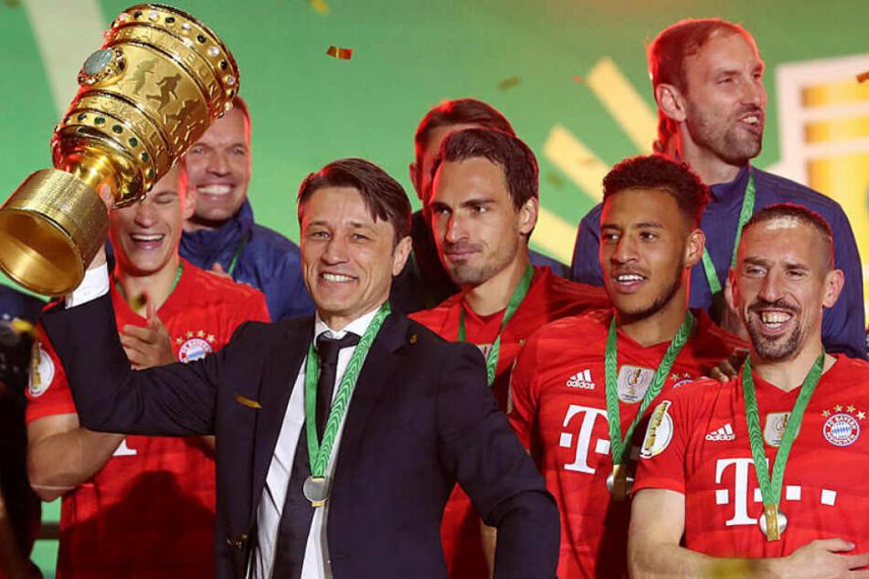 Gewann den DFB-Pokal zum zweiten Mal in Folge: Bayern Trainer Niko Kovac, der letzte Saison mit Eintracht Frankfurt jubeln durfte.
