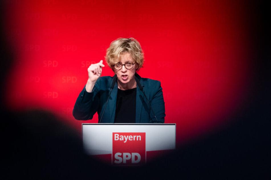 Die Landesvorsitzende der SPD in Bayern, Natascha Kohnen, beim Landesparteitag in Bad Winsheim, Anfang des Jahres.