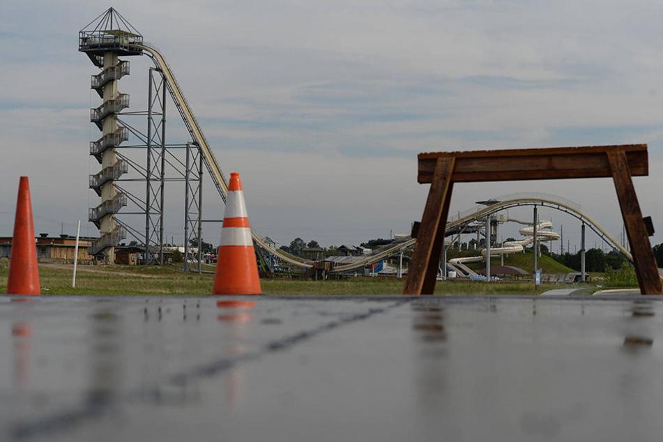 """Die """"Verrückt"""" ist die höchste Wasserrutsche der Welt. Nach einem tödlichen Unfall wird sie jetzt abgerissen."""