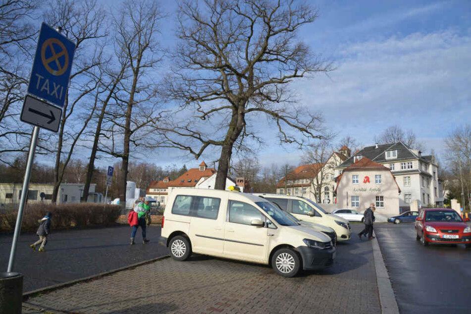 Durcheinander am Taxi-Parkplatz an der Beyerstraße: Das Ein- und Ausparken stört den fließenden Verkehr sowie Fußgänger.