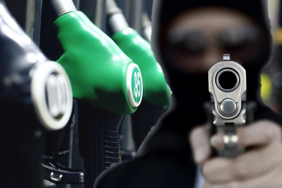 Mit Schusswaffe in der Hand: Mann überfällt Tankstelle und macht sich aus dem Staub