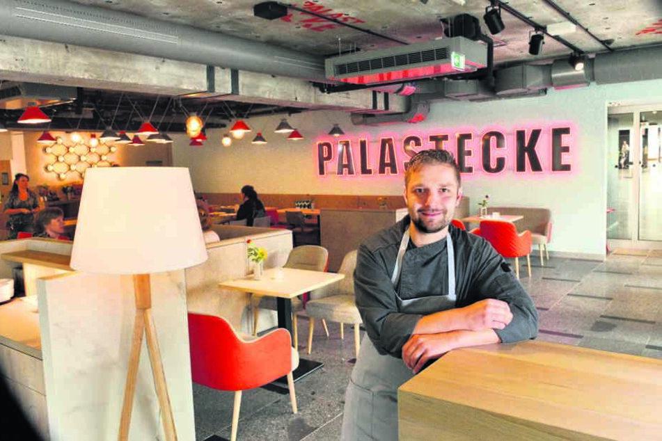 """Küchenchef Thomas Bräunig (31) freut sich im neuen Restaurant """"Palastecke""""  auf seine Gäste."""