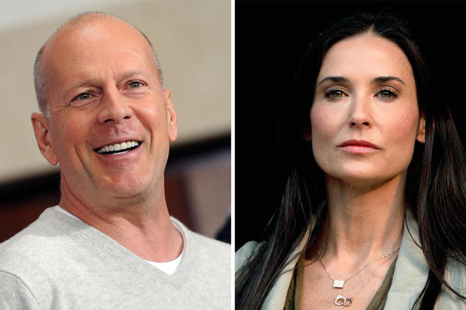 Bruce Willis und Demi Moore verstehen sich trotz ihrer Scheidung sehr gut und können sich deshalb auch den einen oder anderen Scherz erlauben.