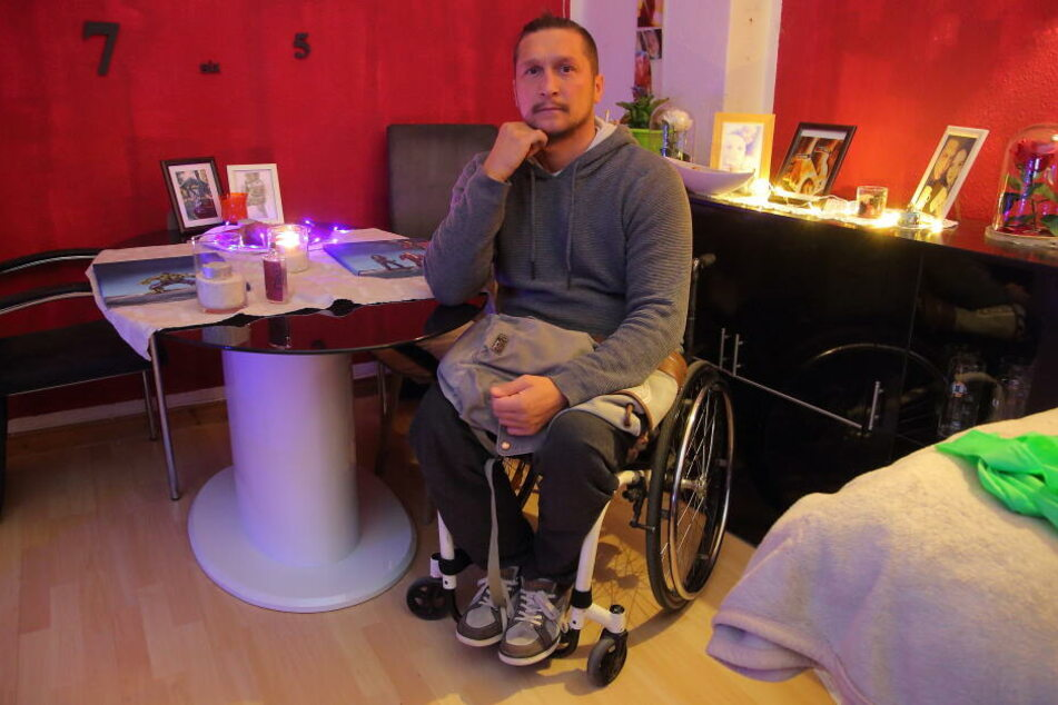 Marcel Schröter (37) ist fassungslos über den unverschämten Diebstahl.